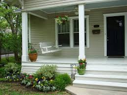 Elevated Front Yard Landscaping - front paver stair home front porch designs for minimalist house