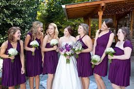 plum wedding dresses plum purple infinity wrap bridesmaid dress 2420567 weddbook