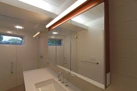 Bathroom Cabinet Mirror Light by Bathroom Rectangle Brown Wooden Medicine Cabinet With Three