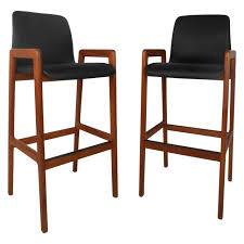 Mid Century Modern Danish Chair Wood Pair Mid Century Modern Danish Teak Stools By Tarm Stole For Sale