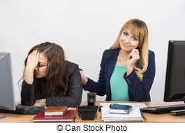 employé de bureau collègue bureau rire téléphone employé situation photo