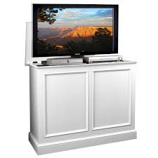 Pop Up Tv Cabinets Carousel White Tv Lift Cabinet By Tvliftcabinet Com