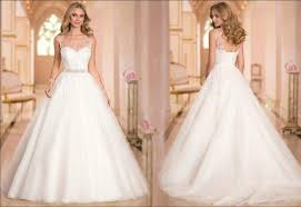 wedding dress with beading arrival sheer neckline applique beading a line wedding dresses