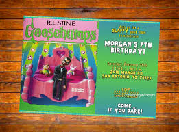 halloween birthday invites custom digital goosebumps slappy birthday invitation by
