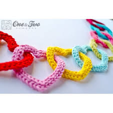 of colorful hearts crochet pattern