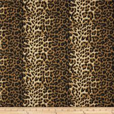 leopard fabric poly cotton twill leopard print brown cream discount designer