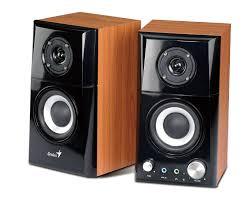 amazon com genius hi fi wood speaker for computers sp hf500a