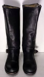 womens biker boots size 11 frye 77455 harness 8r brown leather motorcycle boots s size