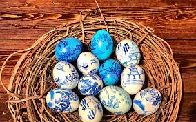 decorative eggs that open open easter sunday the stable