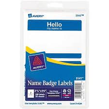 avery print or write name tags
