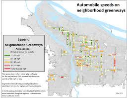 Map Of Portland Oregon Neighborhoods by Speeding Is Common On Most Neighborhood Greenways In Portland