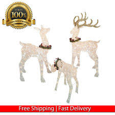 Reindeer Decoration Lighted Christmas Deer Ebay