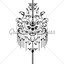 Black Chandelier Clip Art Picture Frames And Chandelier Vector Gl Stock Images