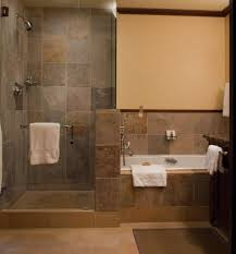bathroom walk in shower ideas bathroom small bathroom with white hanging towel and doorless