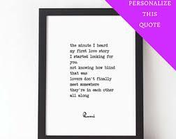 Wedding Quotes Rumi Quotes On Love Etsy