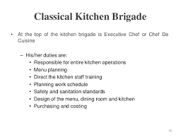 chef de cuisine definition hospitality food beverage service