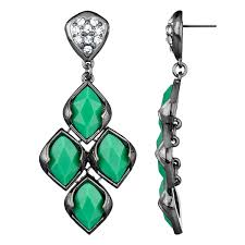 chandelier earings drita s gunmetal green chandelier earrings