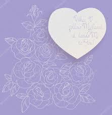 romantic quotes vintage card roses bouquet romantic quotes u2014 stock vector jera