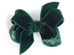 velvet bows green velvet hair bow 3 hair bow christmas hair