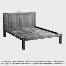 Wooden Platform Bed Frame Plans by Bed Frames Solid Wood Platform Bed King Rustic Bed Frame Plans