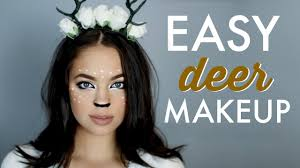 easy halloween makeup tutorial deer inspired youtube