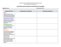 supervision tools instructional leadership for science practices