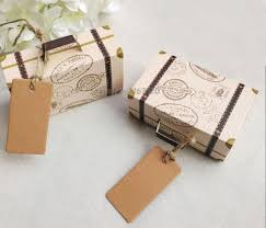 Suitcase Favors by 50pcs Lot Vintage Suitcase Favor Box Wedding Boxes