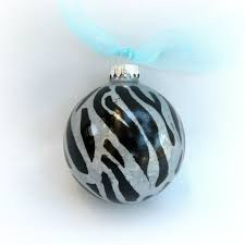 paint your own zebra print ornament morena s corner