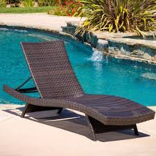 Plastic Pool Chaise Lounge Chairs Furniture Gorgeous Resin Wicker Outdoor Pool Chaise Lounge And