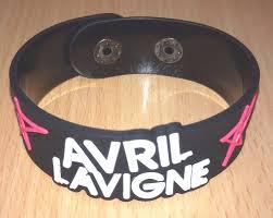 men rubber bracelet images New avril lavigne rubber bracelet wristband unisex men black jpg