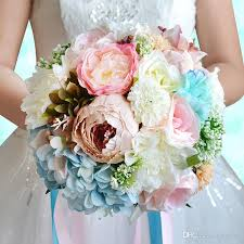 silk flowers for wedding artificial wedding bouquets 2017 silk flowers bridal bouquet