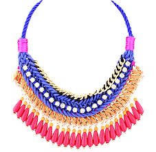 bead rope necklace images Beaded royal blue rope necklace bijoux treasures by ingabijoux png