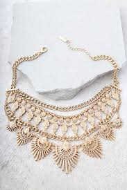 gold statement necklace jewelry images Boho gold necklace statement necklace engraved necklace 26 00 jpg