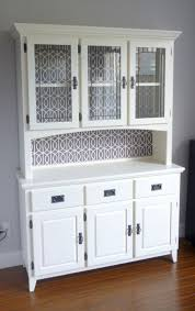Small Kitchen Hutch Cabinets Kitchen Hutch Furniture In White Color With Glass Doors Useful