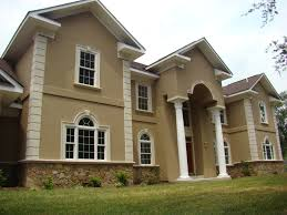 architectural house design with artistic gate and two story and
