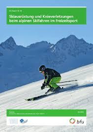 Ergonomische B Om El Skiausrüstung Und Knieverletzungen Beim Alpinen Skifahren Im