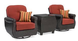 Swivel Patio Chair Breckenridge 3 Pc Patio Furniture Set 2 Swivel Rockers Side