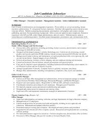 resume exles administrative assistant objective for resume resume exles personal assistant copy administrative assistant