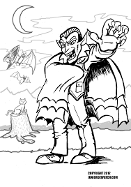 halloween printables coloring scary halloween printable coloring pages pages for dracula eson me