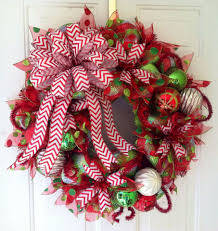 christmas bows for sale special listing for abgraham striped deco mesh by theredhenhouse