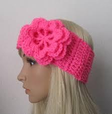 crochet headbands how to crochet earwarmer headband with a flower pattern 3 by