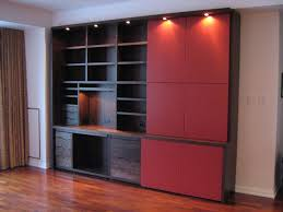 Wall Cabinets For Home Office Hand Made Modern Walnut Home Office Cabinet By Stepan Design