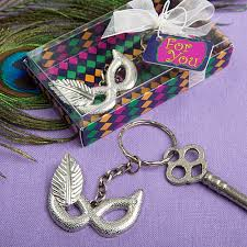 mardi gras material beautiful key chain silver metal material mardi gras party favors