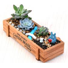 succulent planter planters reclaimed wood succulent planter wooden pot box wooden