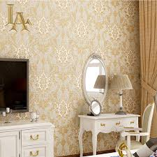 Wallpaper For Living Room Online Buy Wholesale Wallpaper Damask From China Wallpaper Damask