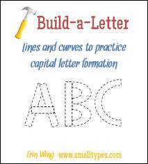 classroom freebies build a letter