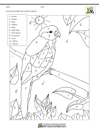color by number sheets bird theme