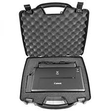 Casematix carrying travel mobile printer hard case w dense foam