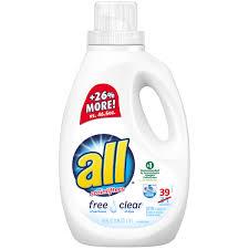 Wisk Wiper by All Free Clear Laundry Detergent 39 Loads 59 Fl Oz Bottle