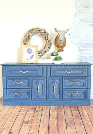 a dresser in navy paint painted furniture refunk my junk